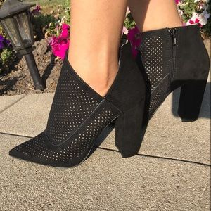 Shoes - CUTE PERFORATED BOOTIES 3 sizes left!